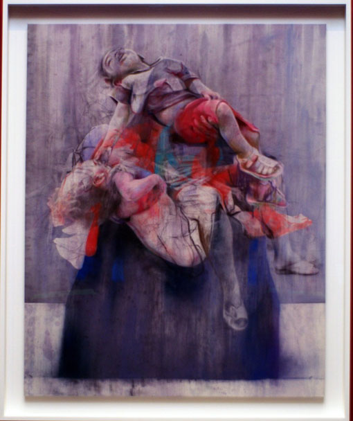 Painting by Jenny Saville mourning the dead children of Aleppo