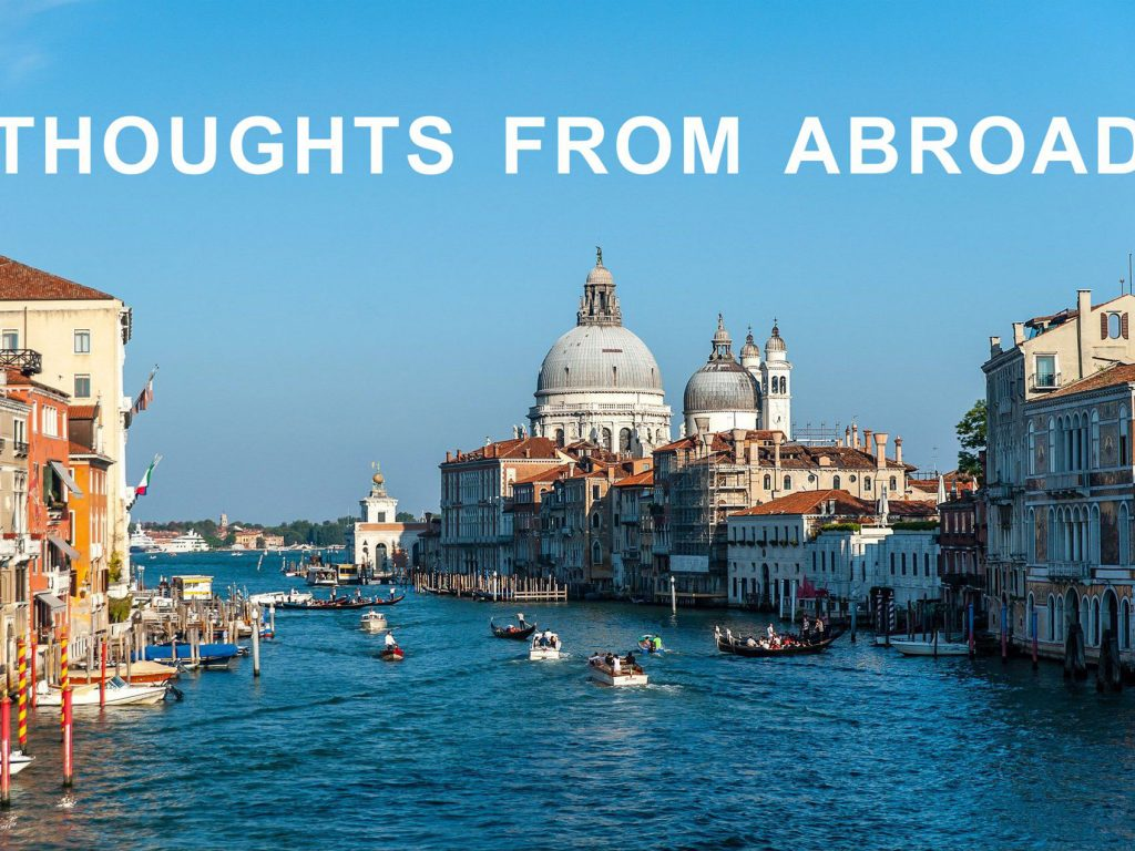 Touch Base October 2020 – Thoughts from Abroad
