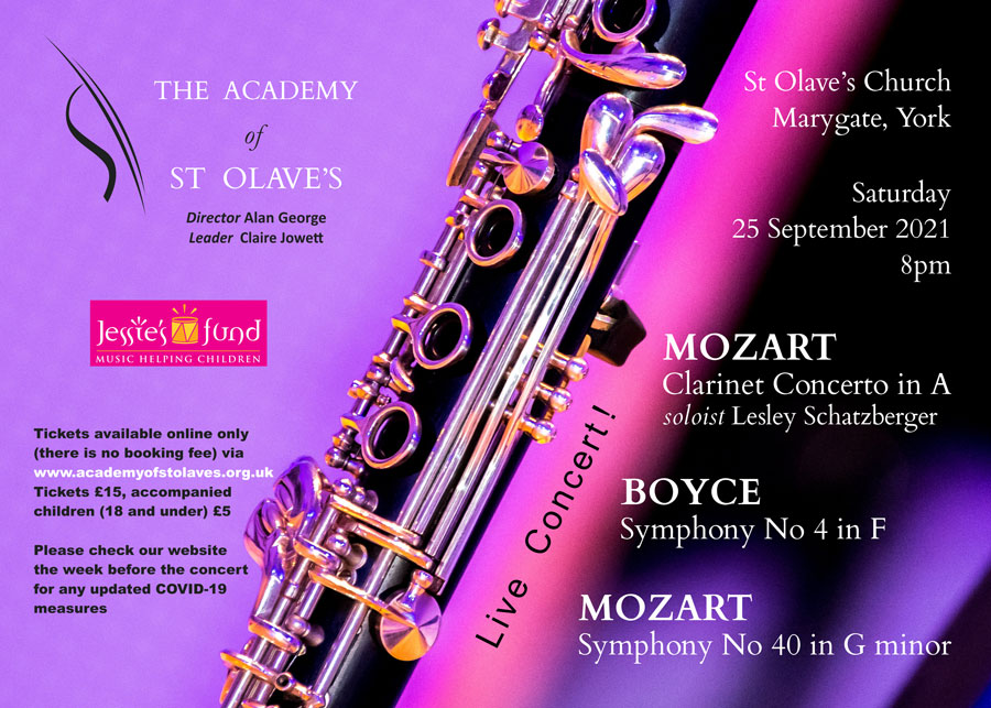 Academy of St Olave's concert poster